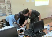 Workshop at University of Malawi, Zomba. Training in digital storytelling
