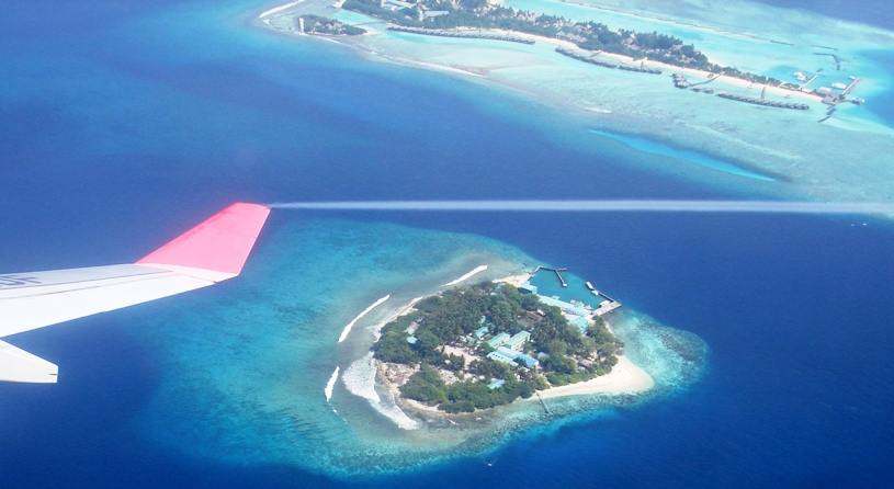 Maldive islands are threatened by global warming and rising sea levels