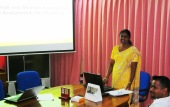 Jayarani presents her thesis
