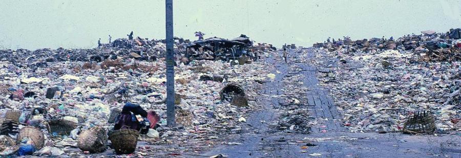City garbage dump Bangkok