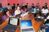 MSc DM students collaborating in a virtual classroom. Photo: Å. Bjørke