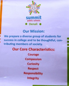 Summit primary school in Silicon valley, California, systematically works on attitudes in their education