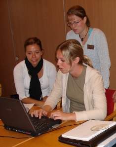 A group in Norway and a group in Uganda can build an online community of practice