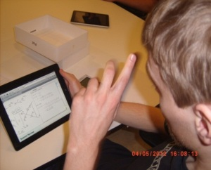 Figure 1 Writing mathematics on iPad