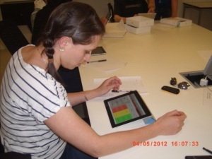 Figure 4 Student engaged in mobile learning