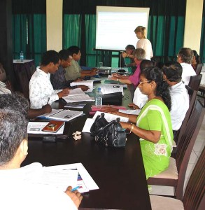 International team developing online courses. University of Ruhuna, Sri Lanka. (Photo: Å. Bjørke)